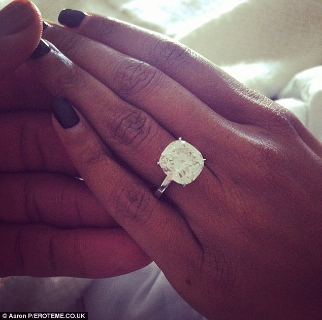 A happy ending: Gabrielle accepted Dwyane's proposal on December 21 and shared this picture of her engagement ring