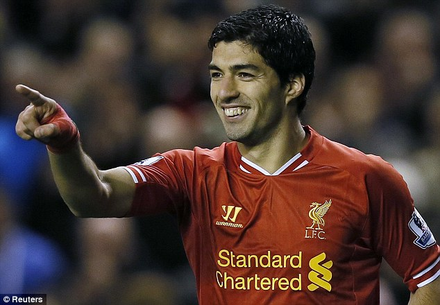 Main man: Luis Suarez will not leave Liverpool in January but is not in a hurry to sign a new deal