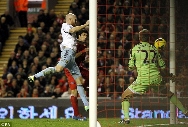 At it again: Suarez was on target on Saturday as Liverpool thrashed West Ham in the Premier League