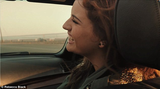 And another car: Rebecca zipped around in another car just like she did in the Friday video