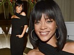 Covered up for once! Rihanna looks elegant in classy black gown at Porter magazine party in Paris