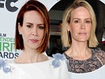 Exploring the dark side! 12 Years a Slave star Sarah Paulson debuts brunette bob at the Independent Spirit Awards