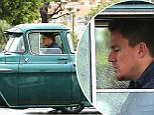 That's a big ol' truck! Channing Tatum gives macho credentials a boost by driving $50k classic Chevy around Los Angeles