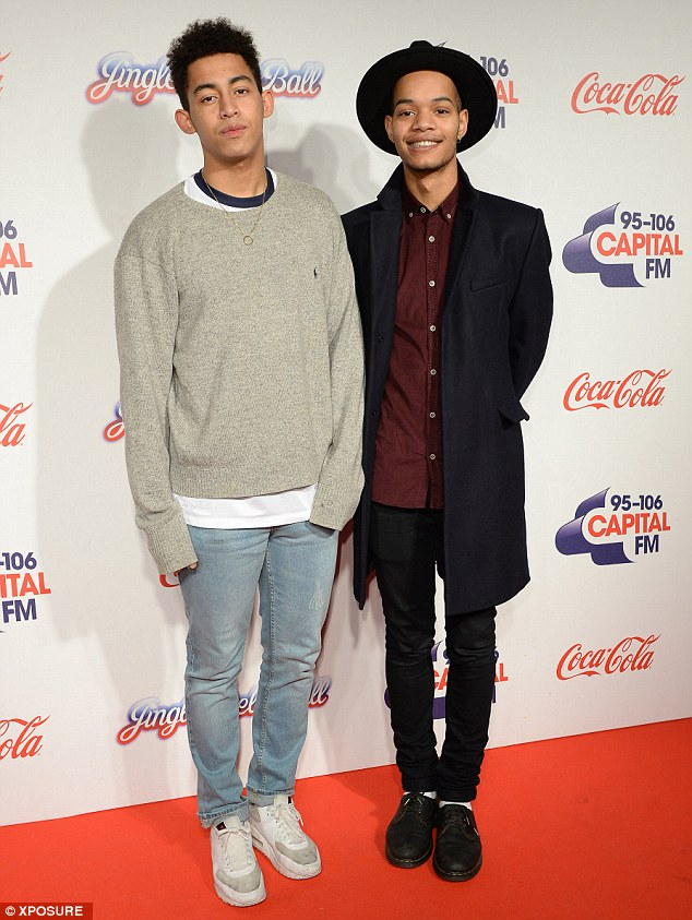 Keeping it casual: Rizzle Kicks dressed down as they posed on the red carpet