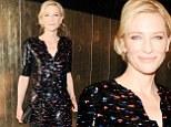 An Italian affair! Cate Blanchett dazzles in shiny black gown at Giorgio Armani's swanky pre-Oscars party