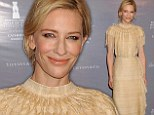 Best actress frontrunner Cate Blanchett dons bizarre tasseled 'rug' gown for Rodeo Drive Walk of Style soiree