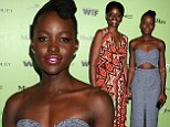 Lupita Nyong'o hits it out of the park with sexy cut-out tweed midi-dress as she takes proud mom Dorothy as her date to Women In Film Pre-Oscar Party