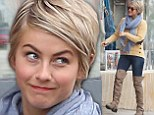 These boots are made for walking! Julianne Hough is chic in beige thigh-highs and skinny jeans as she heads out for lunch
