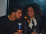 It's all relative: Drake seemed to be getting to know Rihanna's family rather well as he partied with his rumoured girlfriend's half-sister, Robyn Fenty, on Thursday night