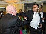 It takes two to tangle: White tie-clad Opera Ball goers brawl at Vienna's premier social event