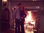 The lovebirds: Adrienne Maloof shared this photo on her Instagram of her and boyfriend Jacob Busch
