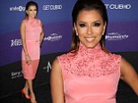 Eva Longoria in pink at charity event