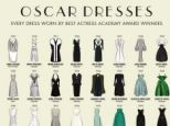 London agency Mediarun Digital has created this cute illustration of every dress worn by the Best Actress Academy Award winner