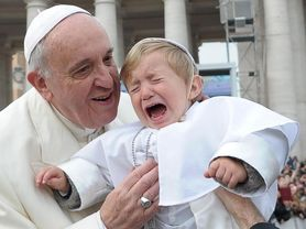 Pope Francis meets his 'mini-me'
