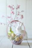 Easter Holiday Themed Still Life Scene in Natural Light