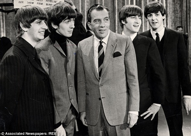 When we were Fab: Ed Sullivan with The Beatles Ringo Starr George Harrison (died November 2001) John Lennon (died December 1980) And Paul Mccartney On The Set Of The Ed Sullivan Show. 1964