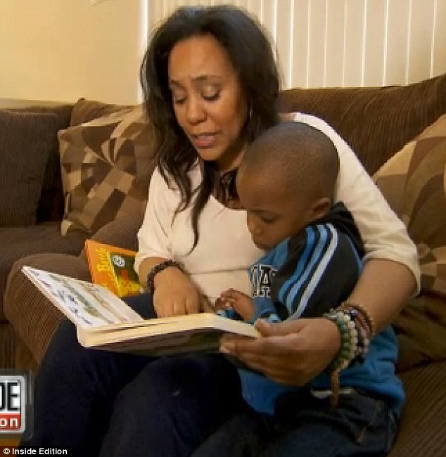 Fatherless child: Alexsandra Wright previously revealed he had not even bothered to meet his four-year-old son Nixon