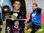Learn from the best: Hazard wants to be at the same level as Ronaldo and Messi