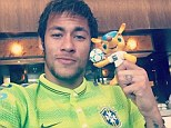Brazil stars fight hotel room boredom with FIFA 14 tournament as Neymar takes the spoils and Luiz fails to score