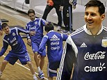 Messi in training..... on a basketball court