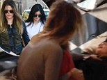 Sisterly scuffle: Kylie Jenner calls Khlo� Kardashian a 'Fake b****' as she wails that her 'knuckles are bleeding' during physical altercation