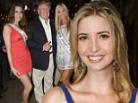 Mother of two: Ivanka Trump shined on Tuesday night in a geometric dress while attending a party in Miami, Florida also attended by her father Donald and brother Donald Trump Jr