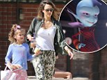 EXCLUSIVE: 'Next time, can you play the nice one?' Jessica Alba reveals daughter Honor was unimpressed with her voicing a villain in Escape From Planet Earth