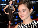 Shailene Woodley flashes her slim pins in glittering minidress at Divergent premiere... before cosying up to co-star Theo James