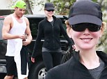 Nicole Kidman and her trainer keep fit in LA