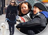 Pregnant Olivia Wilde wraps up warm in smart winter coat before bumping into Justin Long in the dog park