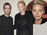 Fashion royalty: Charlene of Monaco mingles with Louis Vuitton's Nicolas Ghesquiere backstage in Paris