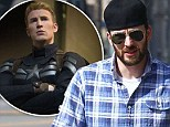 Alter Ego:  Captain America star Chris Evans turns into average Joe as he is spotted out with a beard
