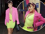 She's just like us! Lily Allen catches the tube to Beyoncé gig wearing a colour-clashing green bodycon dress and pink jacket