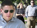 She speaks, he listens! Jonah Hill looks like he can't get a word in while on a stroll with girlfriend Isabelle McNally