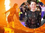 Burn! Tina Arena heats up the stage in a raunchy outfit for the Mardi Gras in Sydney at the weekend