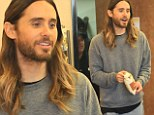 Best SUB-porting actor! Oscar winner Jared Leto grabs a bag of crisps at Subway