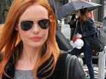 Kate Bosworth shows off new red locks after makeover to play Julianne Moore's daughter and Kristen Stewart's sister