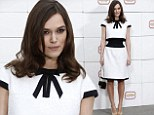 British actress Keira Knightley poses upon arrival to attend Chanel 2014/2015