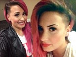 'So this happened!' Demi Lovato unveils edgy new haircut on Twitter... after shaving one side of her head