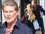 In a Hoff-ully good mood! David Hasselhoff gives daughter Taylor-Ann a kiss on the cheek before going on his merry way