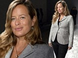 Stylish: Jade Jagger is chic in tailored jacket at Paris Fashion Week