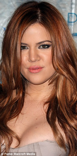 Then a brunette: Khloe back in 2010 with long dark locks and then in 2011(right)