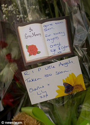 RIP baby angels: The children were just 21 months and two years old when they died