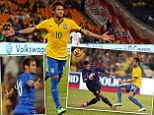 Neymar hits a hat-trick as Brazil beat South Africa 5-0