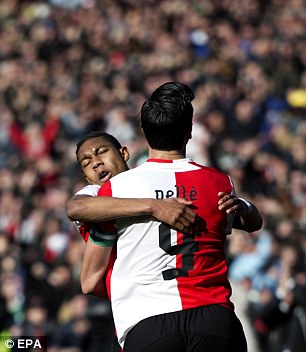 Too good to ignore: Feyenoord's Jean-Paul Boetius (L) has played his way into the Holland squad with irresistible club form