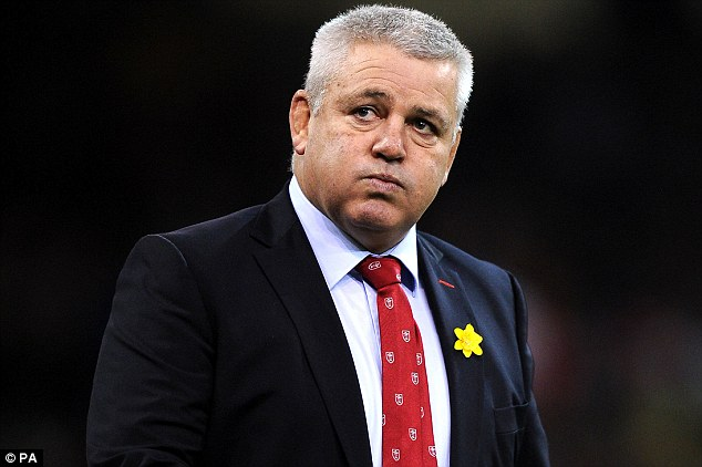 Tough test: Gatland has called for his Wales team to raise their game for the visit to Twickenham