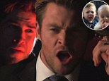 Brothers Liam and Chris Hemsworth star in a new spoof of the viral YouTube clip Charlie Bit My Finger