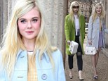 Teenage fashionista! Elle Fanning sports two super stylish outfits in one day as she heads to Paris Fashion Week catwalk show