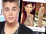 'Most elegant princess in the world': Justin Bieber gushes over ex-girlfriend Selena Gomez while sharing TWO photos of her in revealing Oscar gown