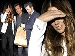 Third wheeling: Kate Beckinsale celebrates husband Len Wiseman's 41st birthday alongside ex-partner Michael Sheen